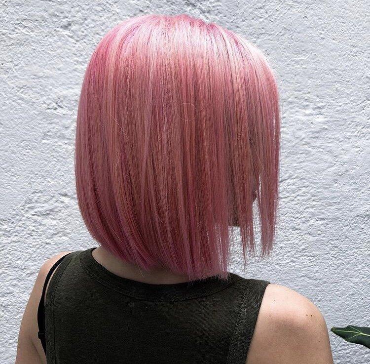 rosa color fantasía para el pelo